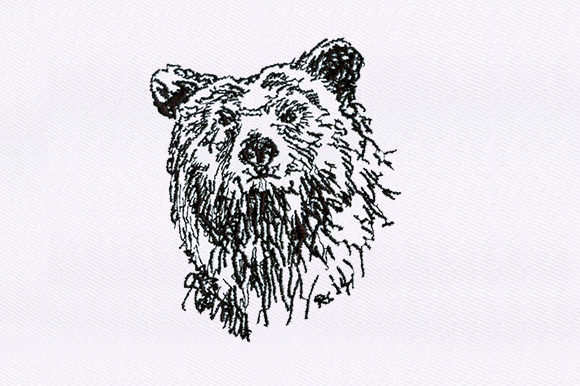 Grizzly Bear Wild Animals Embroidery Design By DigitEMB