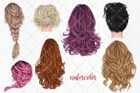 Hairstyles Clipart,Girls Hairstayles Graphic Download