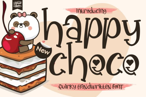 Print on Demand: Happy Choco Script & Handwritten Font By letterenastudios