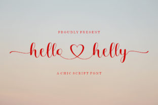Print on Demand: Hello Helly Script & Handwritten Font By bosstypestudio