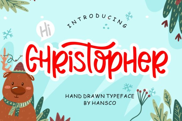 Print on Demand: Hi Christopher Script & Handwritten Font By HansCo