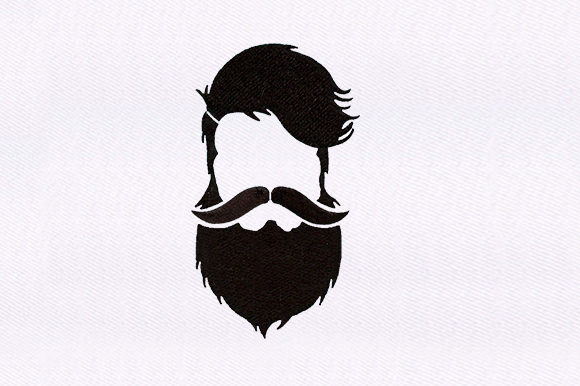 Hipster Man Friends Embroidery Design By DigitEMB