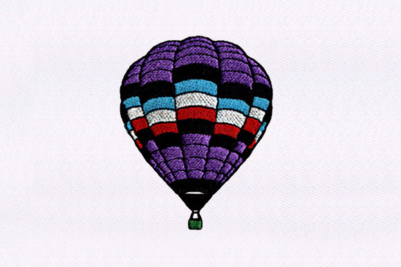 Hot Air Balloon Transportation Embroidery Design By DigitEMB