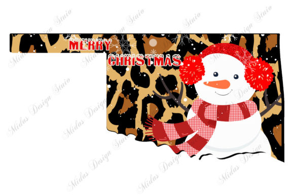 Leopard Oklahoma Christmas with Snowman Graphic Crafts By MidasStudio