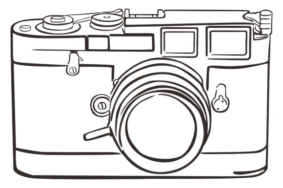 Print on Demand: Line Art Camera Vector Graphic Crafts By Arief Sapta Adjie
