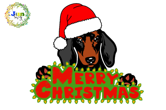 Print on Demand: Merry Christmas Dog Mom Gift Graphic Illustrations By Jun SVG