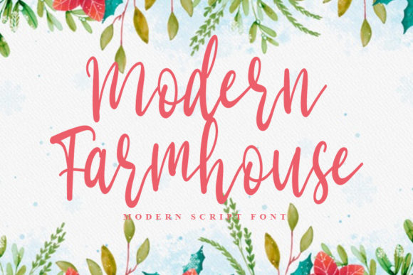 Print on Demand: Modern Farmhouse Script & Handwritten Font By Inermedia STUDIO