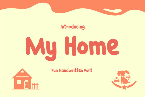 Print on Demand: My Home Display Font By TypeFactory