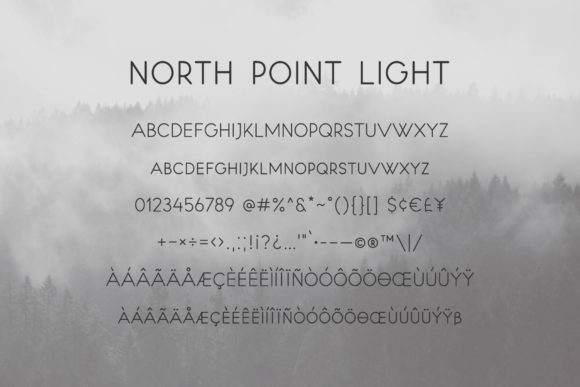 North Point Font Downloadable Digital File