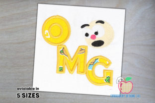 Oh My God with Cartoon Face Applique Circus & Clowns Embroidery Design By embroiderydesigns101