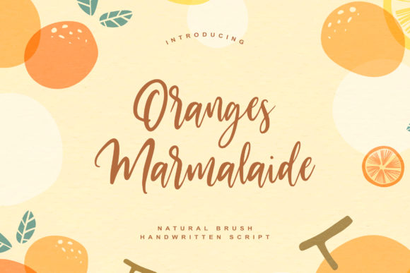 Print on Demand: Oranges Marmalaide Script & Handwritten Font By Damarletter