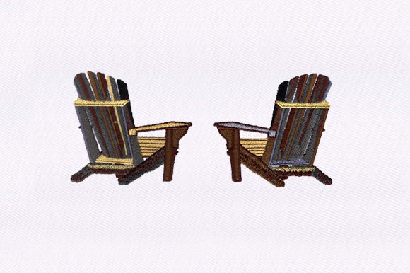 Patio Chairs Food & Dining Embroidery Design By DigitEMB
