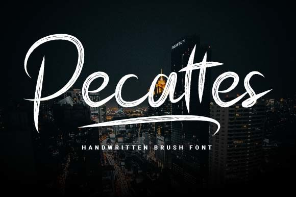 Print on Demand: Pecattes Script & Handwritten Font By Prioritype