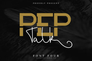Print on Demand: Pep Talk Slab Serif Font By EdricStudio