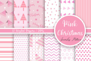 Print on Demand: Pink Christmas Seamless Pattern Graphic Patterns By PinkPearly