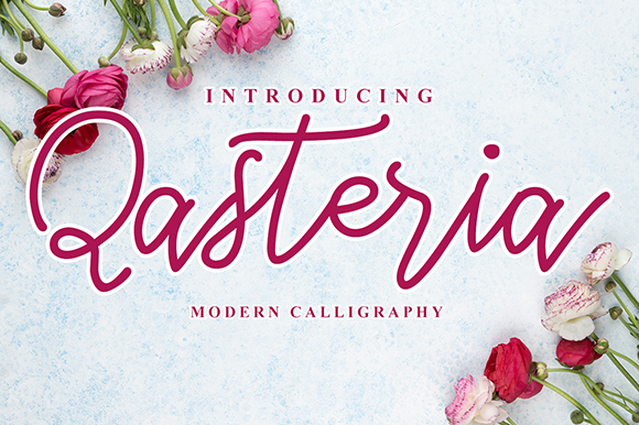 Print on Demand: Qasteria Script & Handwritten Font By Ablycreative