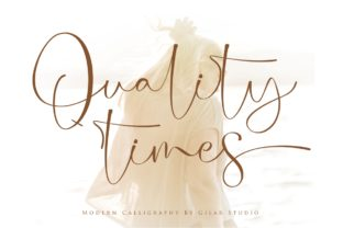 Print on Demand: Quality Times Script & Handwritten Font By Gilar Studio
