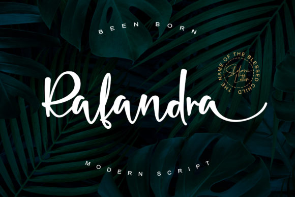 Print on Demand: Rafandra Script & Handwritten Font By Stefani Letter