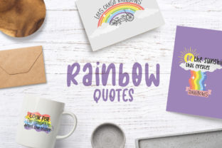 Rainbow Quotes Graphic Crafts By Firefly Designs