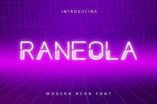 Print on Demand: Raneola Display Font By rudhisasmito
