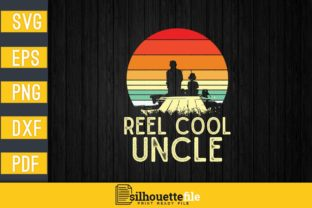 Print on Demand: Retro Vintage Reel Cool Uncle Graphic Print Templates By Silhouettefile