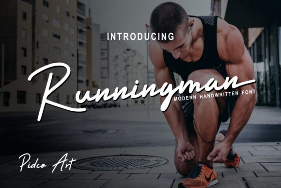 Print on Demand: Runningman Script & Handwritten Font By Pidco.art