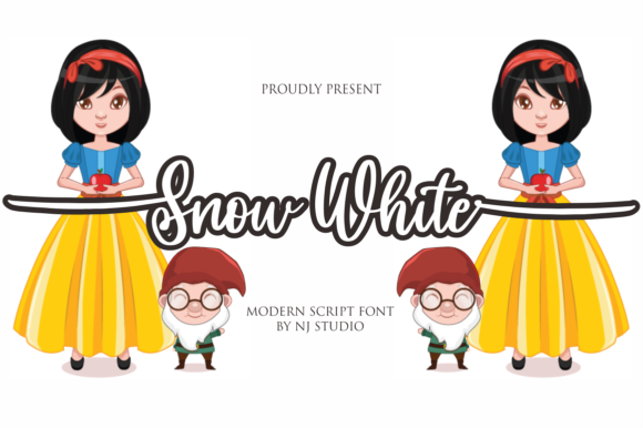 Print on Demand: Snow White Script & Handwritten Font By NJStudio