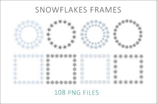 Print on Demand: Snowflakes Frames Graphic Objects By AS Digitale