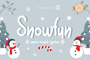 Print on Demand: Snowfun Display Font By Helotype