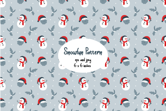 Print on Demand: Snowman and Santa Seamless Pattern Graphic Patterns By Helotype