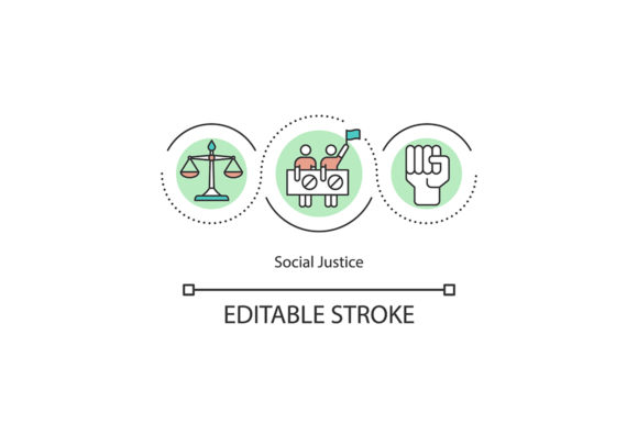 Print on Demand: Social Justice Concept Icon Graphic Icons By bsd studio
