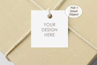 Square Tag Mockup Graphic Product Mockups By thesundaychic