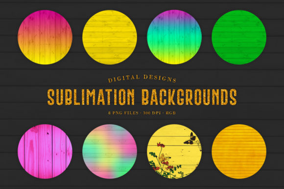 Print on Demand: Sublimation Backgrounds - Bright Colors Graphic Backgrounds By Sabina Leja