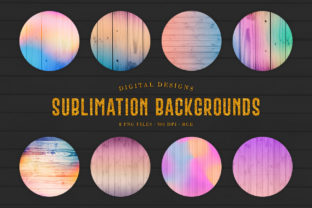 Print on Demand: Sublimation Backgrounds - Ombre Wood Graphic Backgrounds By Sabina Leja