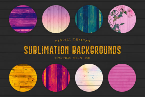Print on Demand: Sublimation Backgrounds - Wood Mix Graphic Backgrounds By Sabina Leja