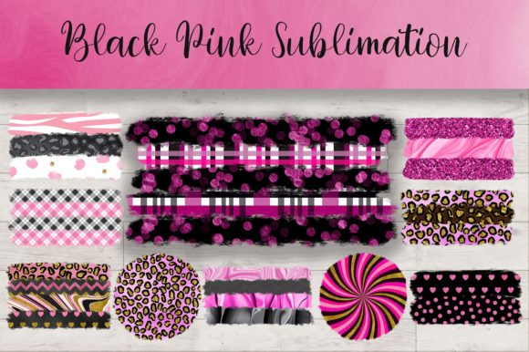 Sublimation Black Pink Background Graphic Backgrounds By PinkPearly