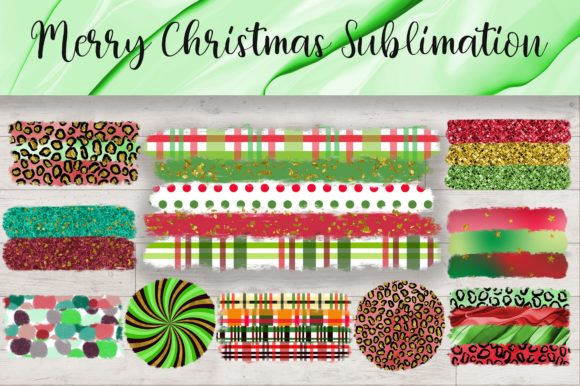 Sublimation Merry Christmas Background Graphic Backgrounds By PinkPearly