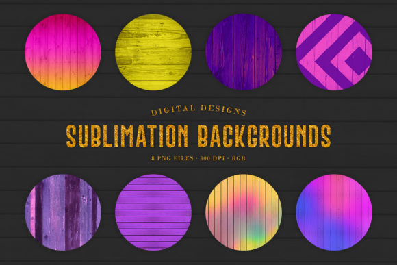 Print on Demand: Sublimation Wood Backgrounds Graphic Backgrounds By Sabina Leja