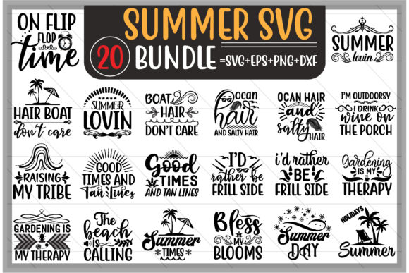 Summer Design Bundle Graphic Print Templates By creative store.net