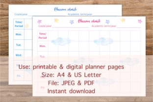 Sweet Dream Class Schedule Table Graphic Print Templates By Toei Design
