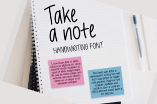 Print on Demand: Take a Note Script & Handwritten Font By Jyllyco