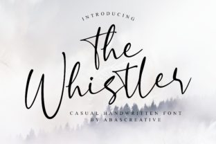 Print on Demand: The Whistler Script & Handwritten Font By AbasCreative