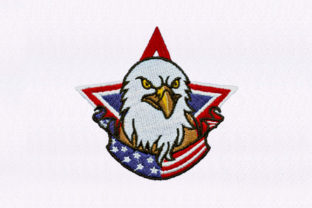 Us Eagle Independence Day Embroidery Design By DigitEMB