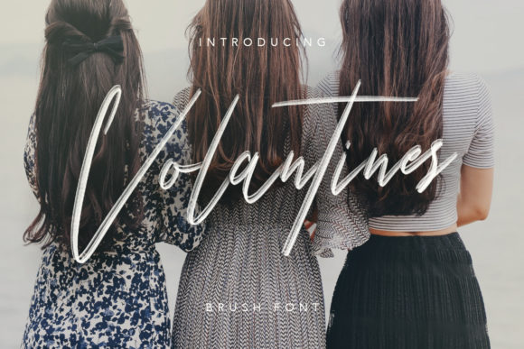 Print on Demand: Volantines Script & Handwritten Font By Maulana Creative