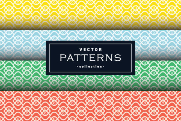Wave Seamless Abstract Patterns Set Graphic Backgrounds By yellagraphic