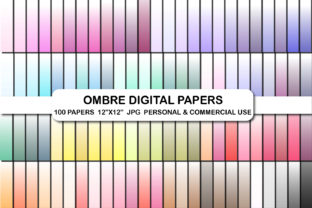White Ombre Background Digital Papers Graphic Backgrounds By bestgraphicsonline