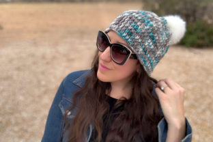 Winter Chill Knit Beanie Pattern Graphic Knitting Patterns By Knit and Crochet Ever After 1