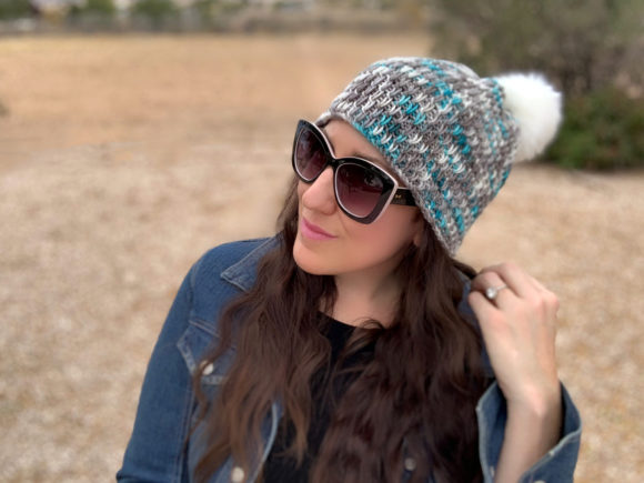 Winter Chill Knit Beanie Pattern Graphic Knitting Patterns By Knit and Crochet Ever After