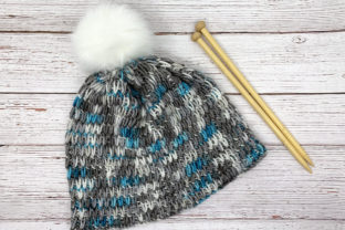 Winter Chill Knit Beanie Pattern Graphic Knitting Patterns By Knit and Crochet Ever After 3