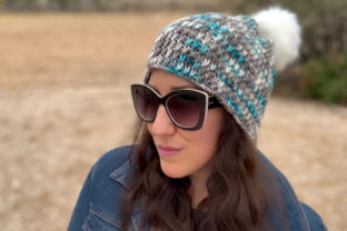 Winter Chill Knit Beanie Pattern Graphic Knitting Patterns By Knit and Crochet Ever After 4